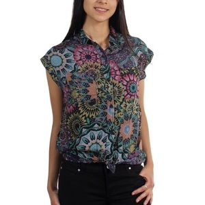 Hurley Women's Woven Short Sleeve Shirt